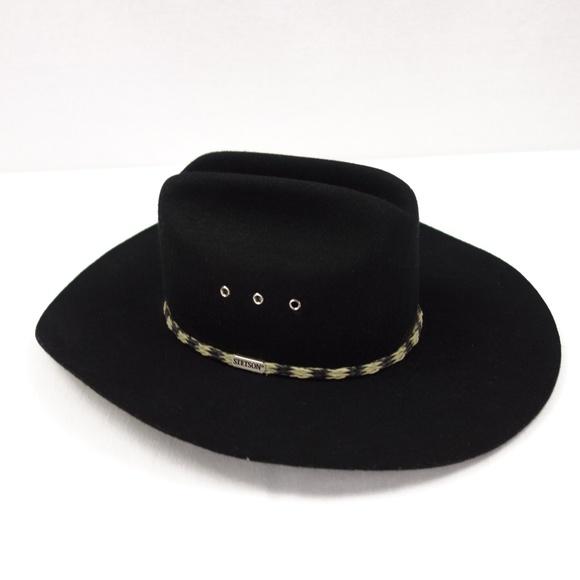 32e445f40 Stallion by Stetson Black Cowboy Western Hat